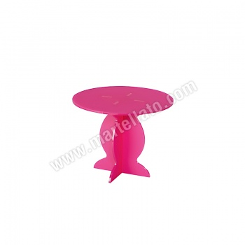 Polycarbonate Cake Display - Fuschia Pink - ø 210 h 163 mm