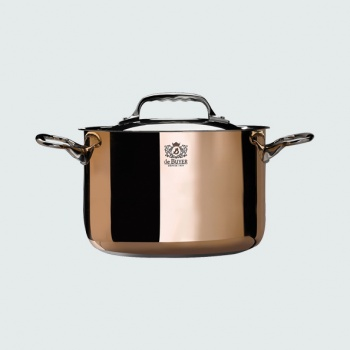 De Buyer High stewpan copper Stainless Steel PRIMA MATERA with lid - 9 1/2'' diam.