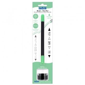 PME Brush & Fine Refillable Edible Pen with 8g Refill Jar - Light Green