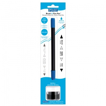 PME Brush & Fine Refillable Edible Pen with 8g Refill Jar - Sea Blue