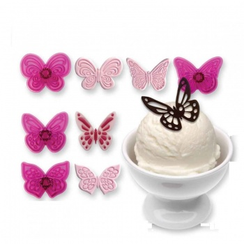 PME Lacy Butterflies Cutters- Set of 4 - 1 1/2'' Diam