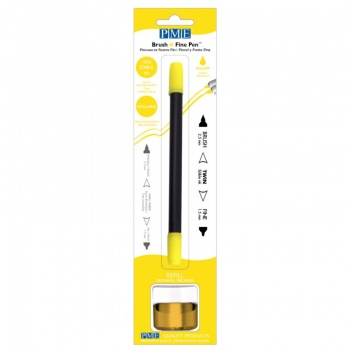 PME Brush & Fine Refillable Edible Pen with 8g Refill Jar - Yellow