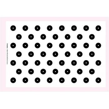 Plastic Macarons Template - 59x39 d,32 mm - 53 shells