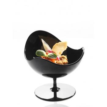 Plastic Mini Dishes Ball Chair Black - 1.7 oz Ø 2.8'' H 2.7''- 200pcs