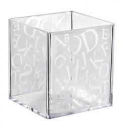 Plastic Mini Dishes Alpha Cube cups - 2.4 oz 1.8'' x 1.8'' x 1.7'' - 320pcs