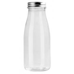 Plastic Mini Bottle Perette Bottle 8.5 oz Ø 2.2'' H 5.5'' - 100pcs - CAPS INCLUDED