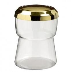 Plastic Mini Dishes Champagne cap Gold + lid - 2 oz Ø 1.8'' H 2.2'' - 200pcs