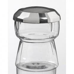 Plastic Mini Dishes Champagne cap silver + lid - 2 oz Ø 1.8'' H 2.2'' - 200pcs