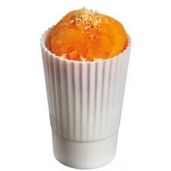 Plastic Mini Dishes Chef's Hat white - 2.7 oz Ø 1.9'' H 2.8'' - 300pcs