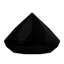 Plastic Mini Dishes Diamond Black 1.4 oz Ø 2.8'' H 2'' - 200pcs (Bases only)