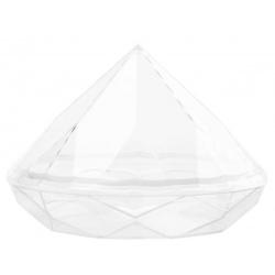 Plastic Mini Dishes Diamond Clear 1.4 oz Ø 2.8'' H 2'' - 200pcs (Bases only)