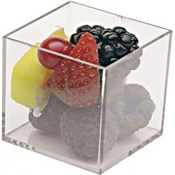 Plastic Mini Dishes Clear Cubes 2.4 oz 1.8'' x 1.8'' x 1.7''- 200pcs