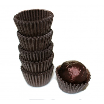 Glassine Chocolate Candy Cups No.4 - 1''x3/4'' - Brown - 300pcs