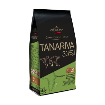 Valrhona Single Origin Grand Cru Chocolate Tanariva 33% cocoa 38% sugar 35.4% fat content 28% Milk  - 3Kg  - Feves