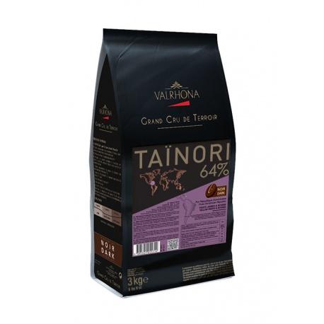 Valrhona Single Origin Grand Cru Chocolate Tainori 64% cocoa 35.5% sugar 39.4% fat content  - 3Kg  - Feves