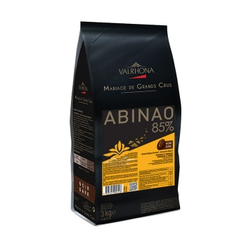 Valrhona Blended Origin Grand Cru Chocolate Abinao 85% cocoa 13.8% sugar 48.4% fat content  - 3Kg  - Feves
