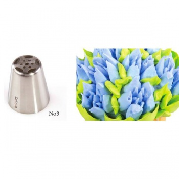 Russian Icing Decorating Nozzle Tips Stainless Steel- Flowers - No 03