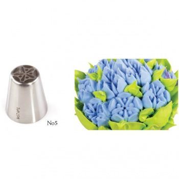 Russian Icing Decorating Nozzle Tips Stainless Steel- Flowers - No 05