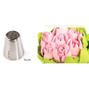 Russian Icing Decorating Nozzle Tips Stainless Steel- Flowers - No 10