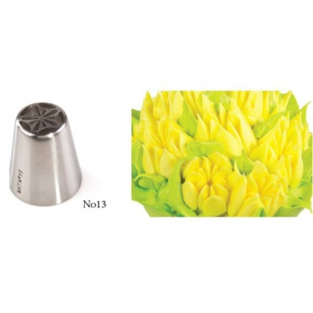 Russian Icing Decorating Nozzle Tips Stainless Steel- Flowers - No 13