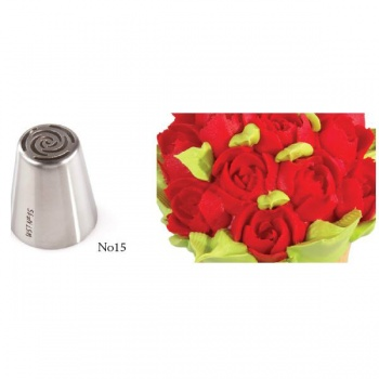 Russian Icing Decorating Nozzle Tips Stainless Steel- Flowers - No 15