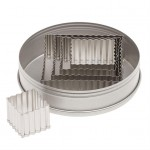 Ateco Fluted Square Stainless Steel Cookie Cutter Set - 5pces