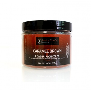 Pastry Chef's Boutique Powder Food Color - CARAMEL BROWN - 20gr - 0.7oz