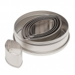 Ateco Plain Football Stainless Steel Cookie Cutter Set - 6pcs