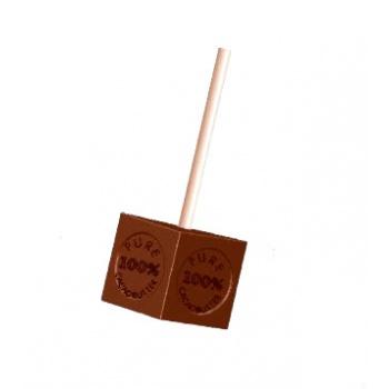 Polycarbonate Chocolate Mold 100% Cacao Cubes - 33x33x33 mm -1x5 pc/2x20,50 gr -275x135x28