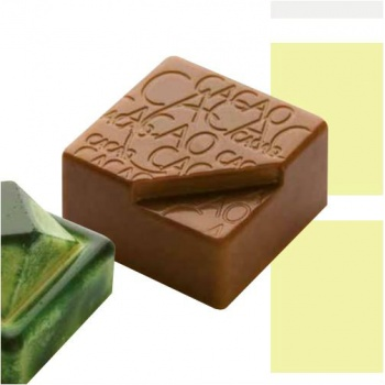 Polycarbonate Chocolate Mold Cacao - 25x25x12 mm -9 gr - 3x8 cav - 135x275x24mm