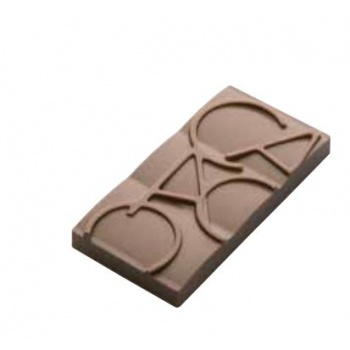 Polycarbonate Chocolate Mold Cacao Mini Tablets - 76x35x55 mm - 20 gr - 6x2 cav - 175x275x24mm
