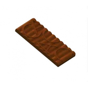 Polycarbonate Chocolate Mold Cacao Tablet - 150x65x10 mm - 100 gr - 1x3 cav - 175x275x24mm