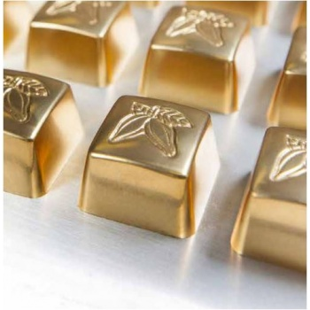 Polycarbonate Chocolate Mold Cocoa Beans - 26x26x16 mm - 3x8 pc/10 gr - 275x135x24 mm