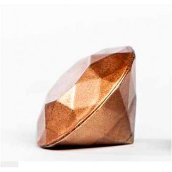 Polycarbonate Chocolate Mold Diamond 3D - top Ø 25x5,75 mm - bottom Ø 25x13,25 mm -4,5 gr- 3x8 Cav - 135x275x24mm