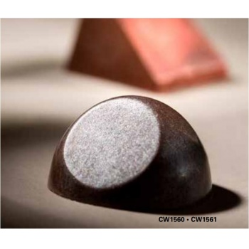 Polycarbonate Chocolate Mold Hemisphere Flattened - 27,5x27,5x15 mm - 3x7 pc/7 gr - 275x135x24mm