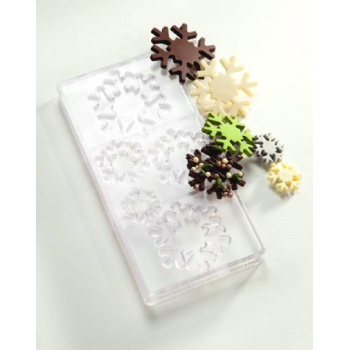Polycarbonate Chocolate Mold Snowstar - 5 Different Sizes - 275x135x24mm