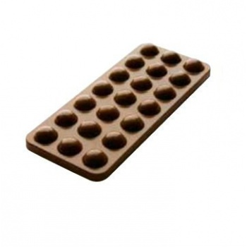Polycarbonate Chocolate Mold Tablet - 150x65x10 mm - 100 gr circa - 1x3 cav - 175x275x24mm