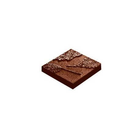 Polycarbonate Chocolate Mold Nature Napolitains - 41x41x7 mm - 2x5 pc /13 gr - 275x135x24mm