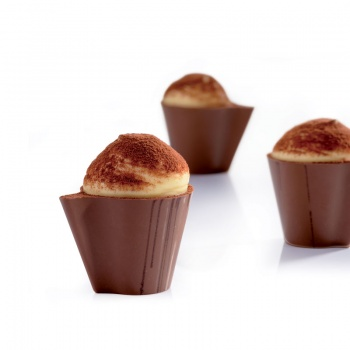 Polycarbonate Mold Minichocofill Chocolate Cups Mold  -24 pcs - 32x42 h29 mm