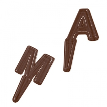 Thermoformed Chocolate Mold - Alphabet Letters A-M