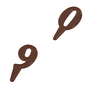 Thermoformed Chocolate Mold - Numbers 0-9