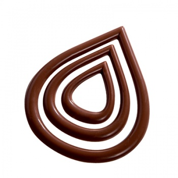 Polycarbonate Chocolate Decoration - Tears - 6+6+6 pcs - 2/3 gr approx - 66x79 - 46x58 - 28x36 mm