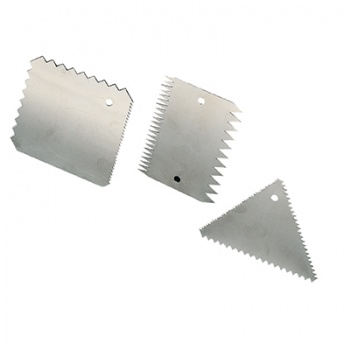 Stainless Steel Combs Scrapers - 3pcs