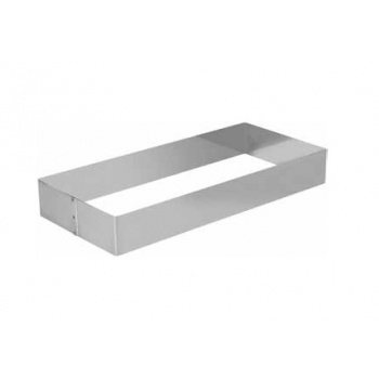 Stainless Steel Long Rectangle Pastry Cake Ring 360X165 mm H 5 cm - 14.17''x 6.49''x 2''