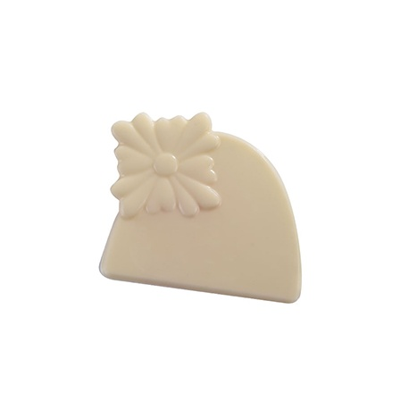 End of Log Decoration Chocolate Plastic Mold - Flower - 2 Molds - 12 Cav