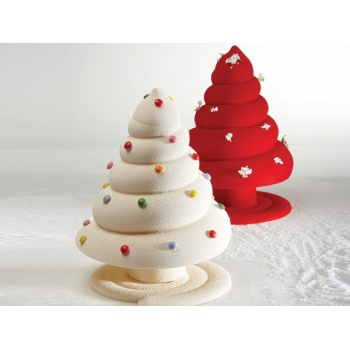 Pavoni Thermoformed Mold - ALBERO SPIRALE - Christmas Trees Ø 160 x 210mm H - Weight: 350 g