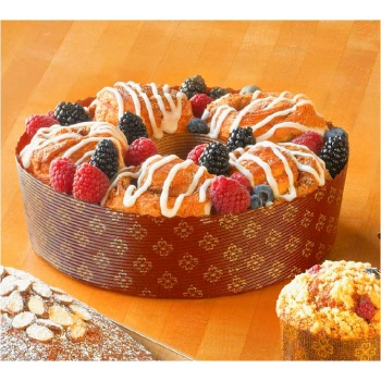 Angel Food Bundt Cake Paper Pan 7 7/8''X2 3/8'' - 12pcs