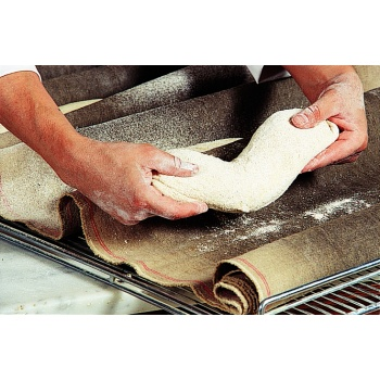 Matfer Bourgeat Dough Fermentation Cloth - 100% Natural Linen - 21 7/8 Yard Roll.