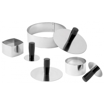 Matfer Bourgeat Round Pack Down Tool For Molds/Rings - Diam. 1 1/2''