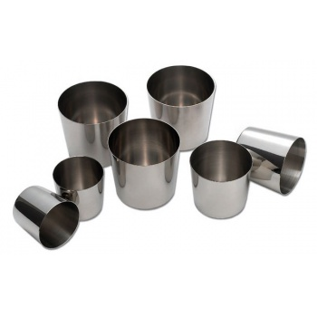 "Matfer Bourgeat Stainless Steel Baba Mold - 1 3/4""X 1 3/4"", 2 Oz. - Pack Of 6"